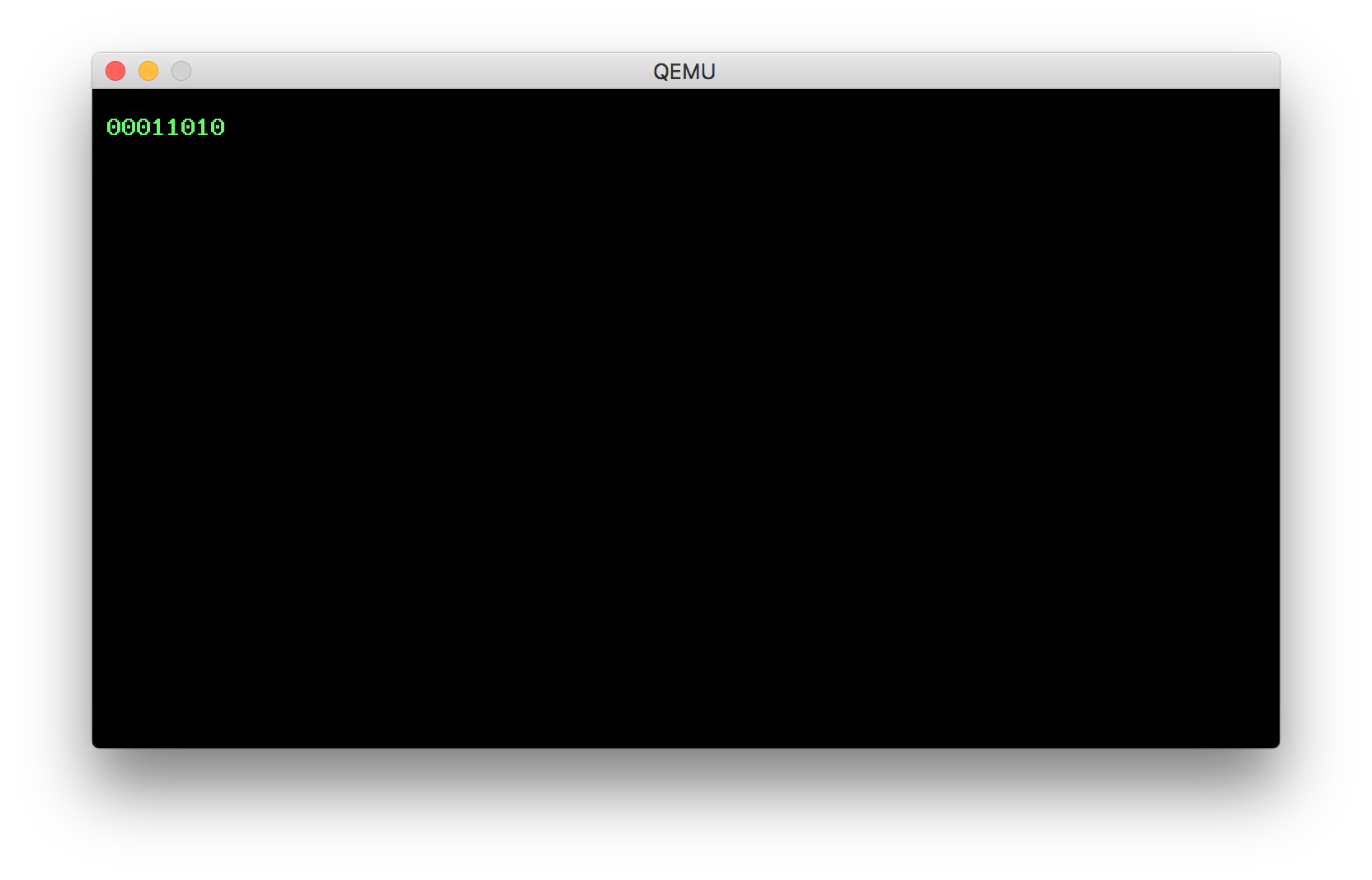 Number formatting QEMU screenshot