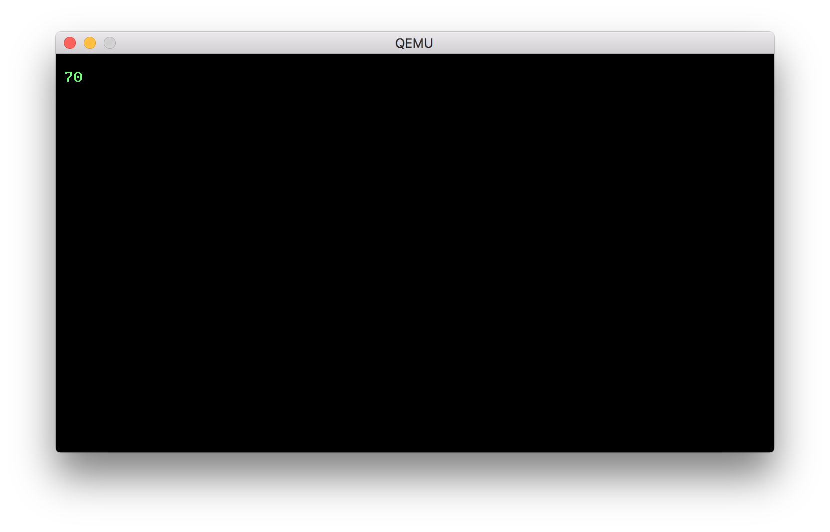 Input loop QEMU screenshot